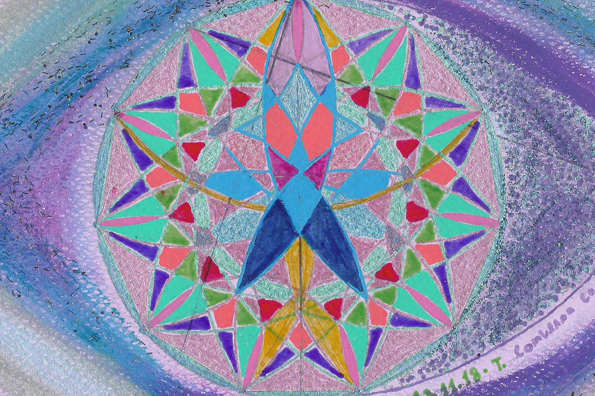 """Curso - Uma Viagem ao Centro """"12 Workshops de Mandalas"""""""
